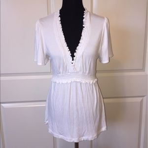 BCBGMaxAzria White Knit Top